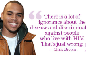 Chris Brown speaks up for the beautiful people at AIDS Project Los Angelas