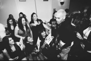 Chris Brown – embraces fans