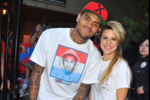 Chris Brown & Sabrina Antoinette Giveaway Sneakers In Compton